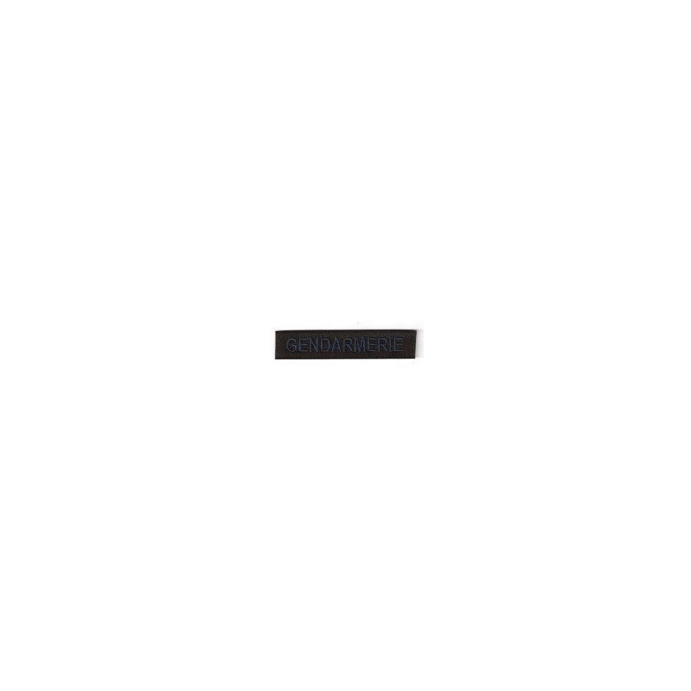 Bande patronymique noire basse visibilité