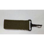 Porte mousqueton métal vert armée