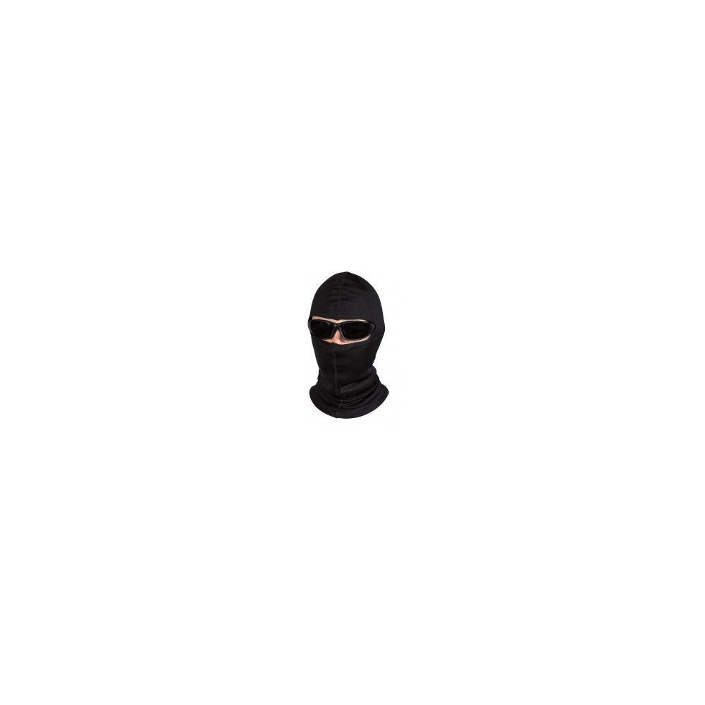 Cagoule panoramique noire 100% coton