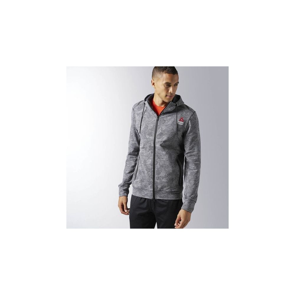 SWEAT COL ROULÉ À ZIP INTÉGRAL REEBOK CROSSFIT FLEECE