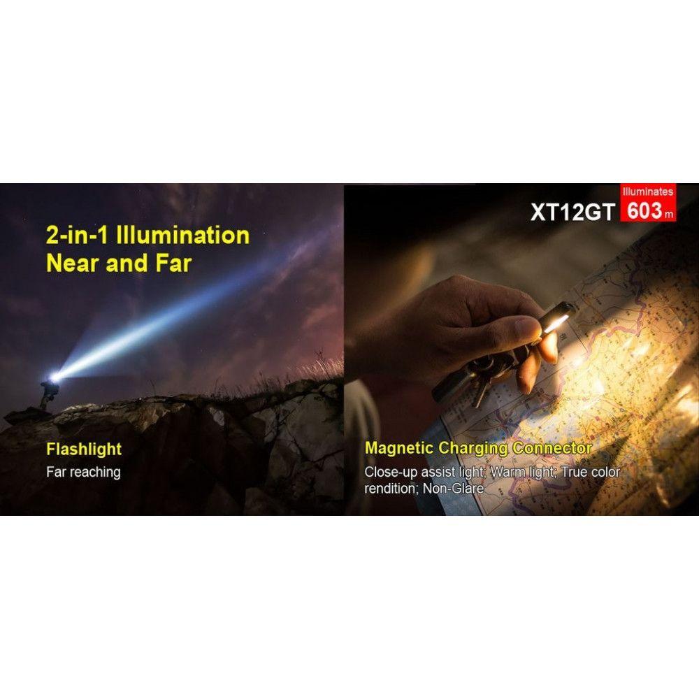 Lampe tactique rechargeable Klarus XT12GT 1600Lumens