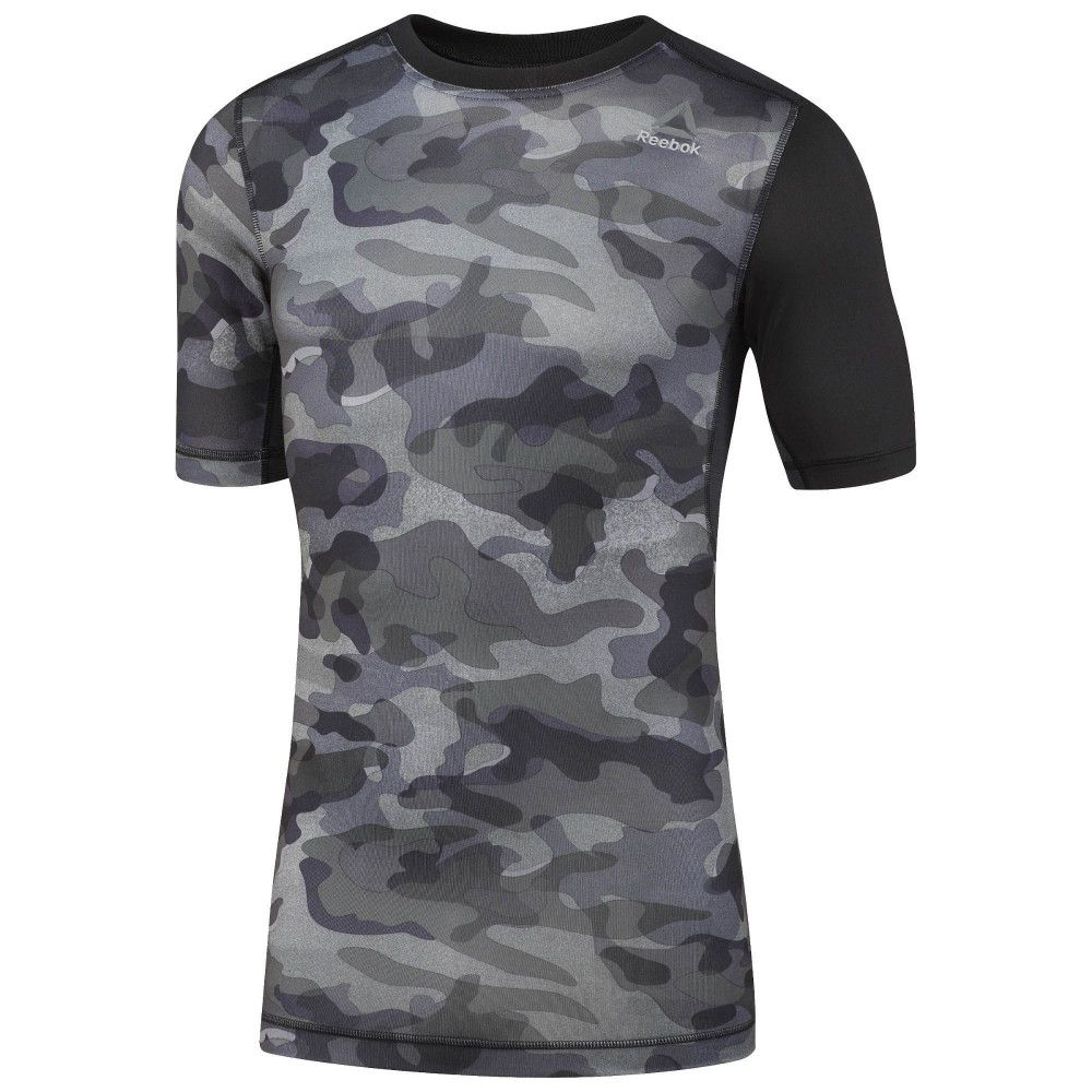 TEE-SHIRT REEBOK de compression ACTIVCHILL - Imprimé camouflage