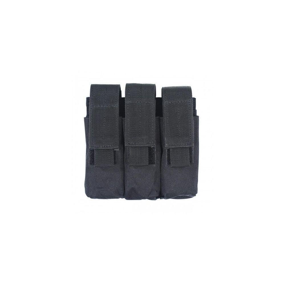 Porte-chargeur triple pour pistolet automatique avec attaches Molle