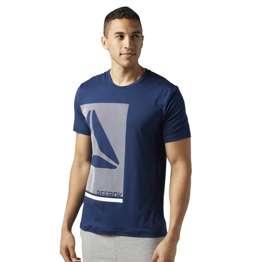 TEE SHIRT REEBOK GRAPH TECH MARINE