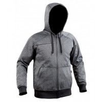 Sweat zippé Ghost gris/noir