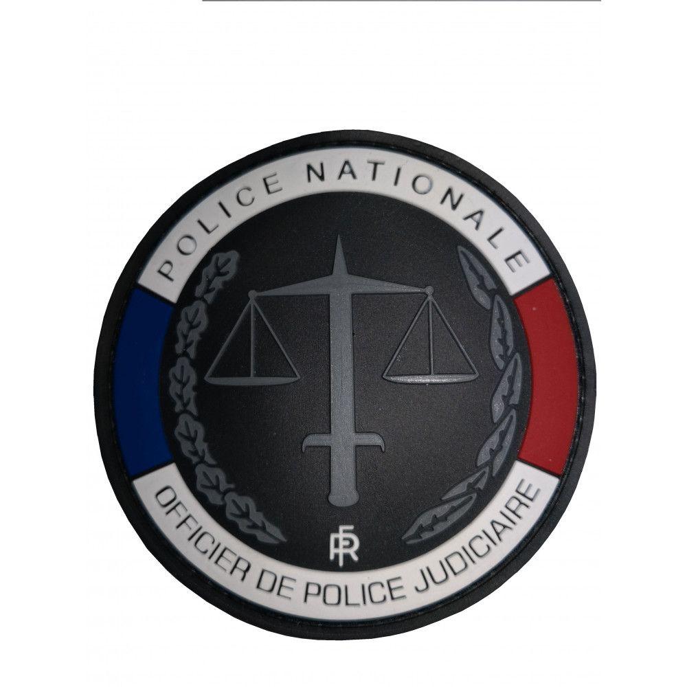 Ecusson de bras officier de police Judiciaire Rubber
