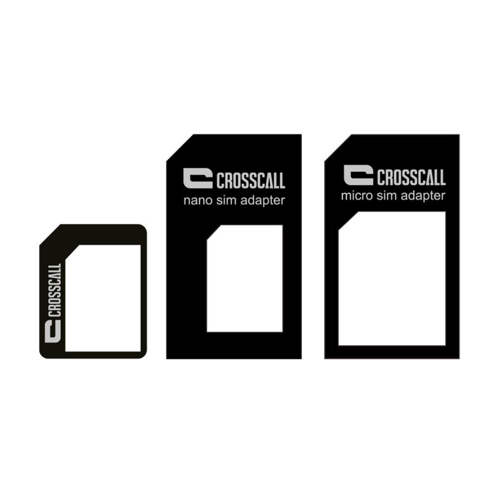 Kit de 3 adaptateurs carte SIM CROSSCALL
