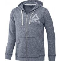 Veste Training Essentials Snow Melange Crew Neck Full Zip Hoodie REEBOK