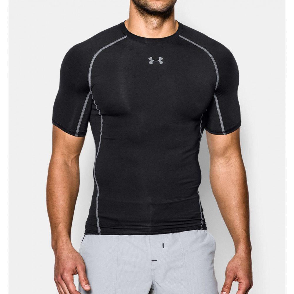 Tee-shirt Compression UA HeatGear® Armour à manches courtes pour homme