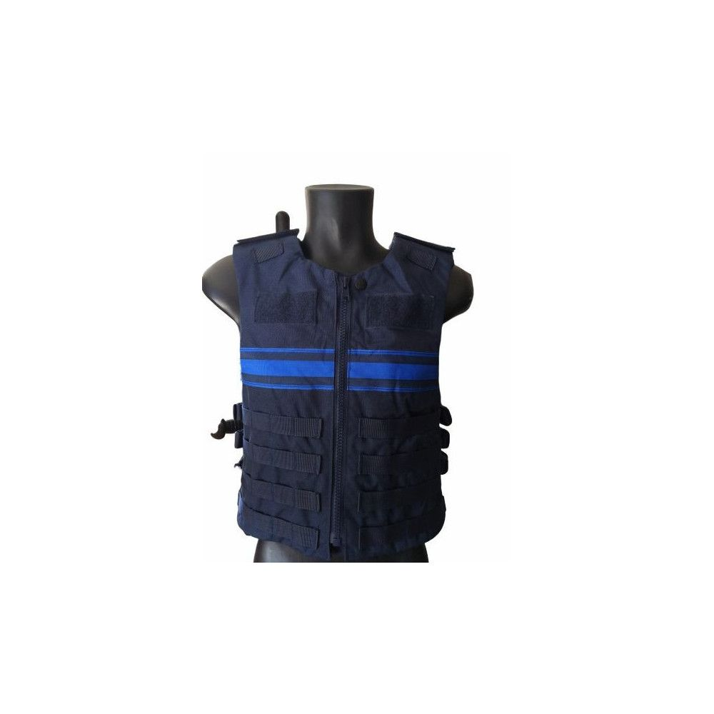 Gilet  d'intervention MOLLE porte plaques Police Municipale