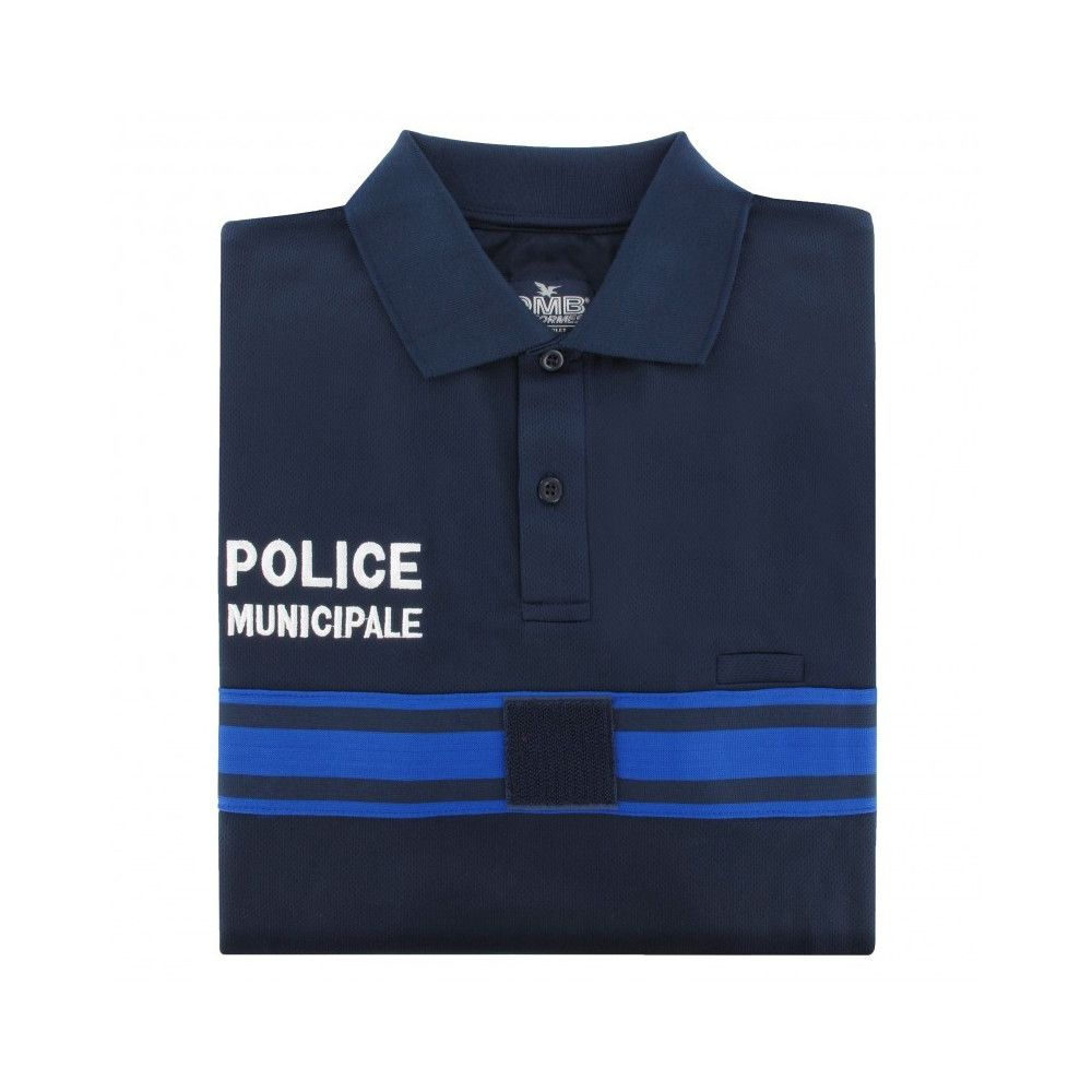 Polo manches longues bleu marine Police Municipale