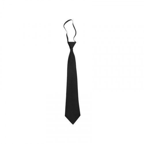 Cravate noire à élastique