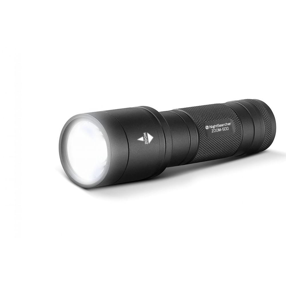 Lampe Tactique LED ZOOM 500 500Lm Portée 285m NightSearcher