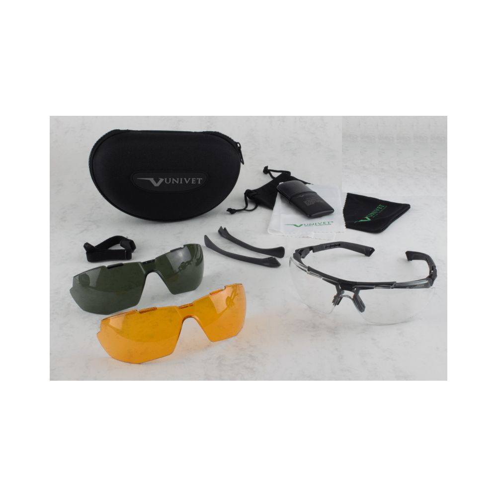 Kit de lunettes ballistic Univet 5X1 complet