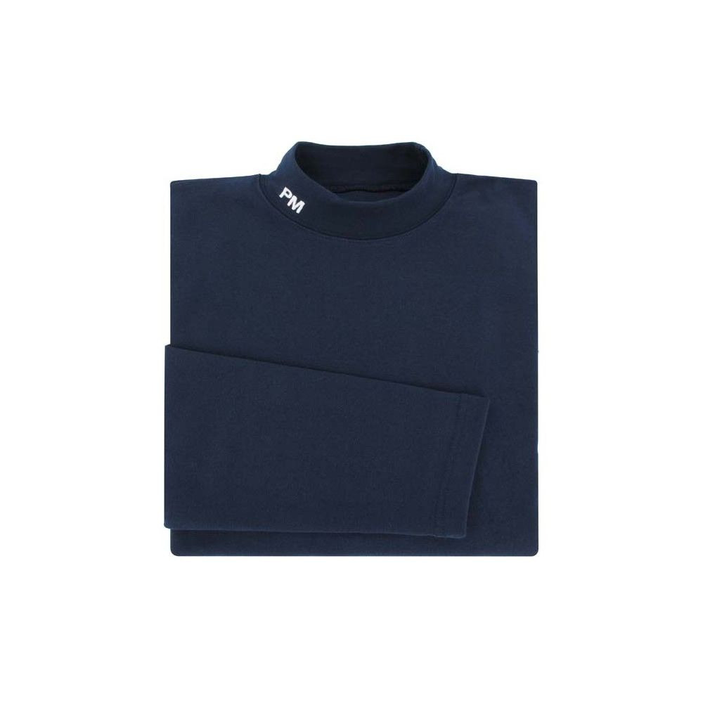 Sous-pull marine col montant broderie PM