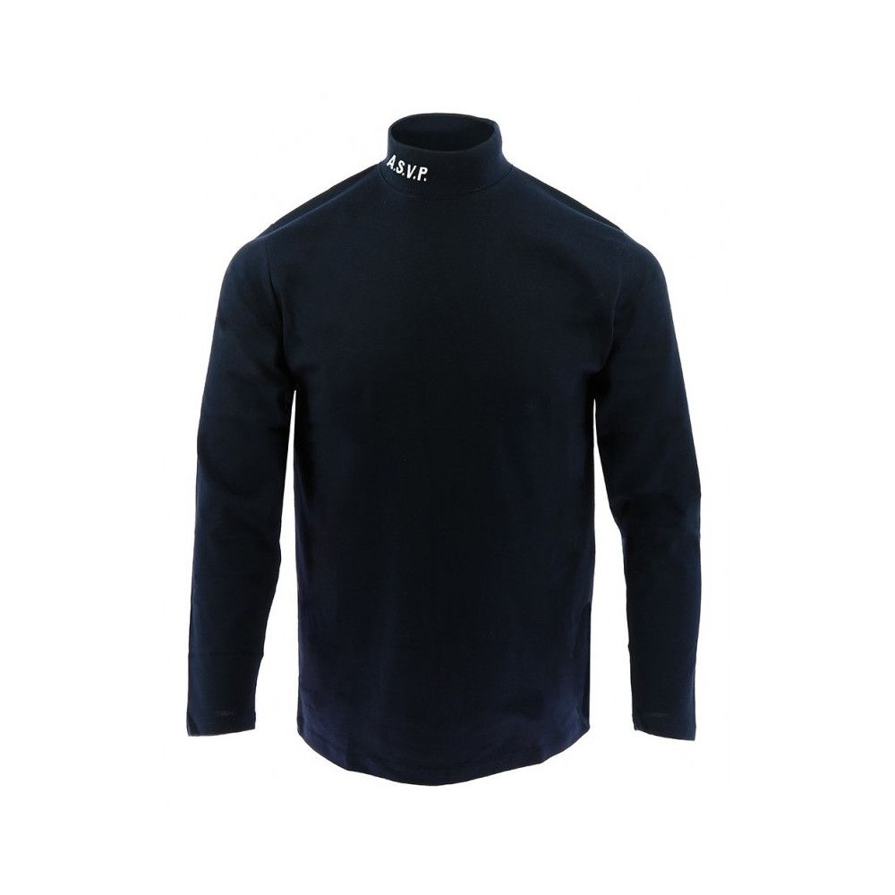 Sous-pull col montant broderie ASVP