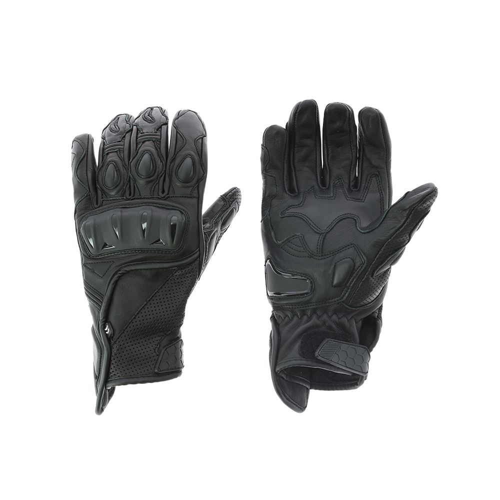 Gants motard Homologués cuir noir