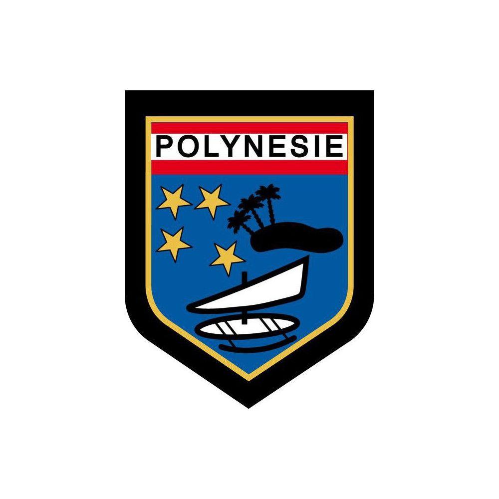 Ecusson de Bras Brode Gendarmerie Departementale Polynesie Française