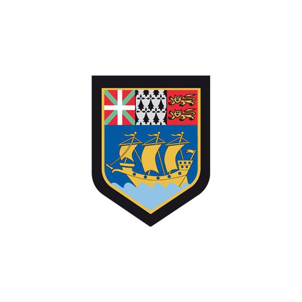Ecusson de Bras Brode Gendarmerie Departementale Saint Pierre et Miquelon