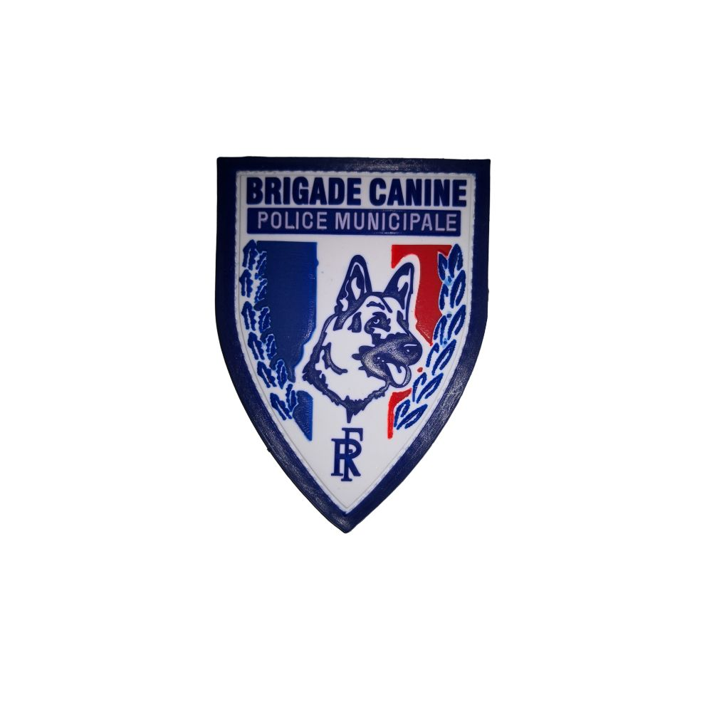 Ecusson de Bras PVC Police Municipale Brigade Canine