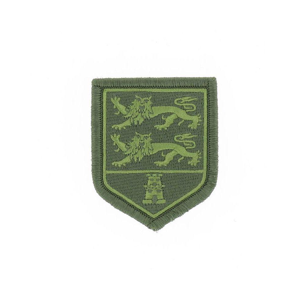 Ecusson de Bras Brode Gendarmerie Departementale Basse Normandie Basse Visibilite Vert