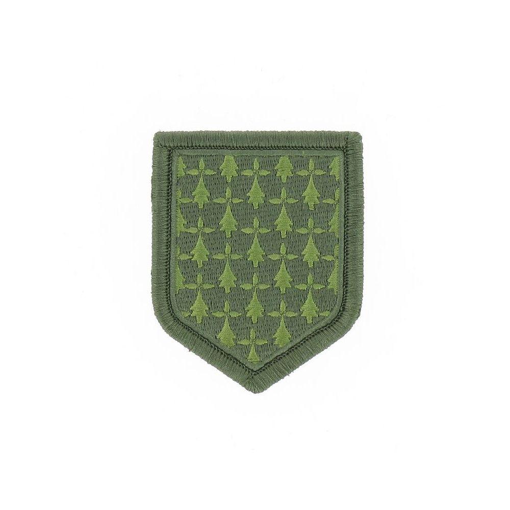 Ecusson de Bras Brode Gendarmerie Departemetale Bretagne Basse Visibilite Vert