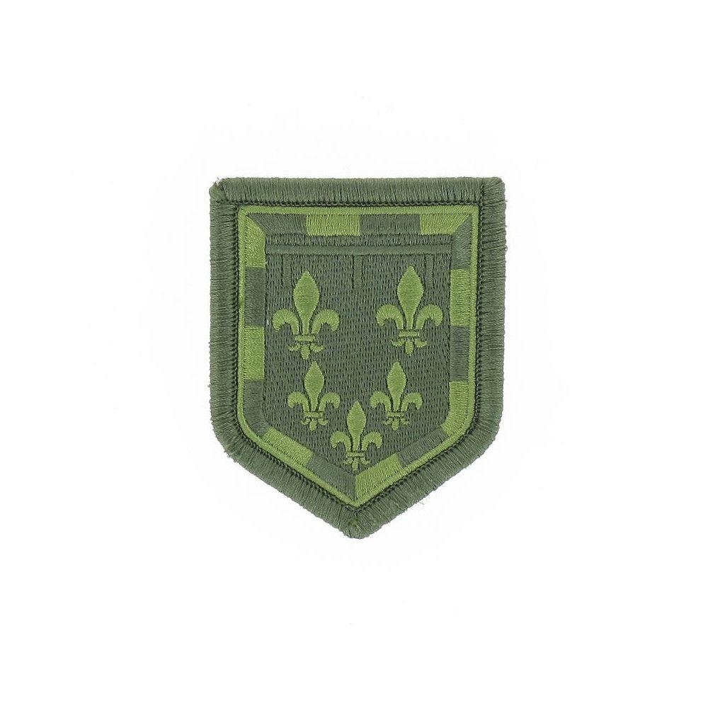 Ecusson de Bras Brode Gendarmerie Departemetale Centre Basse Visibilite Vert