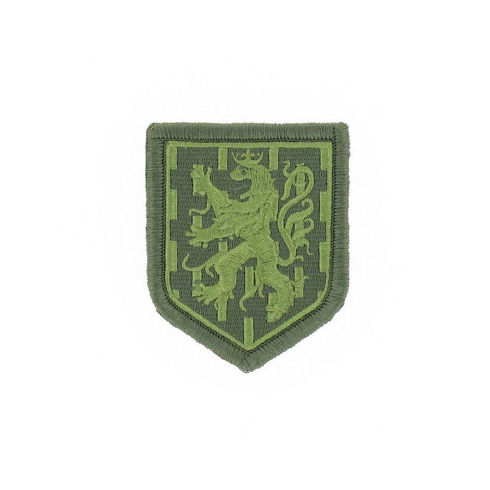 Ecusson de Bras Brode Gendarmerie Departemetale Franche Comte Basse Visibilite Vert