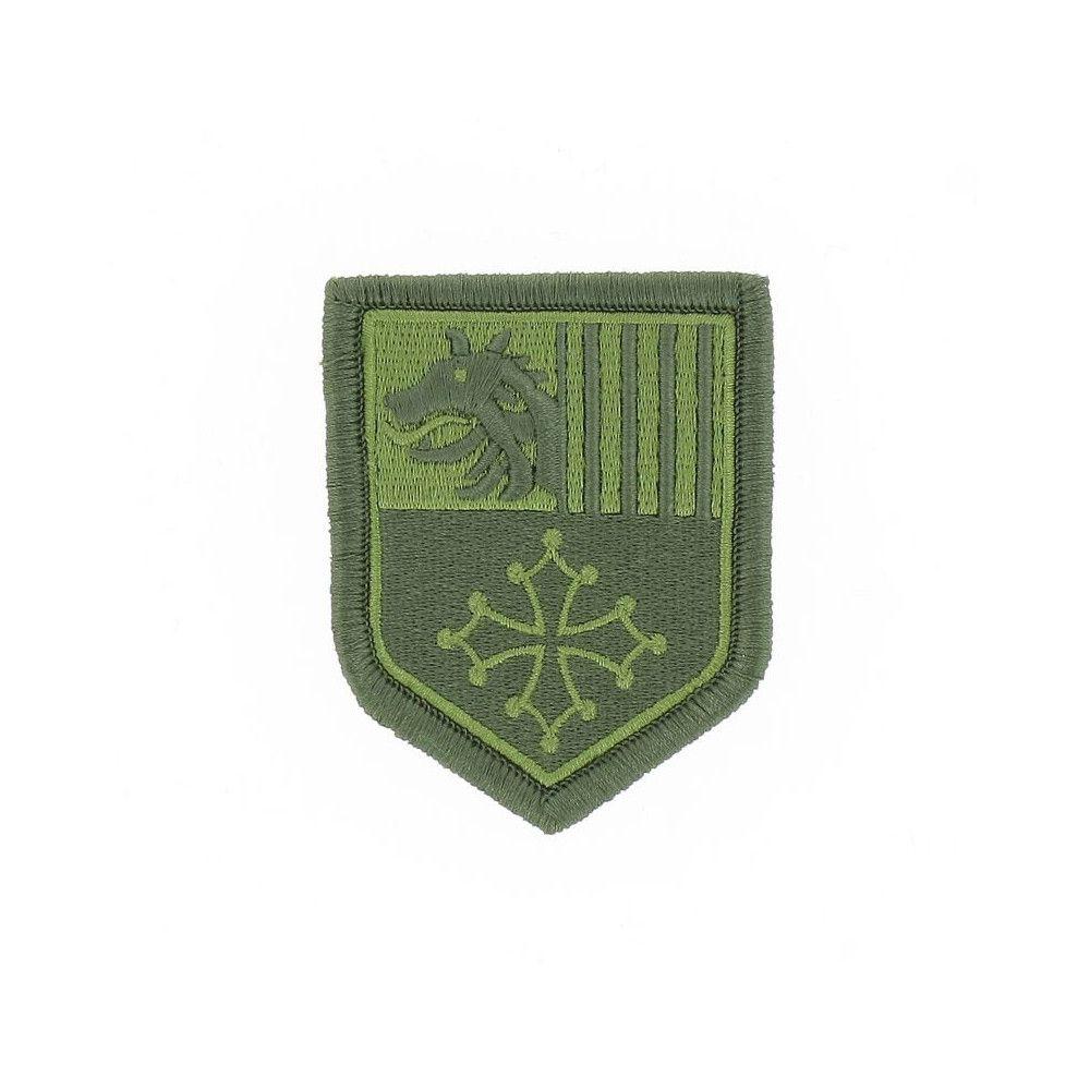 Ecusson de Bras Brode Gendarmerie Departemetale Languedoc Roussillon Basse Visibilite Vert