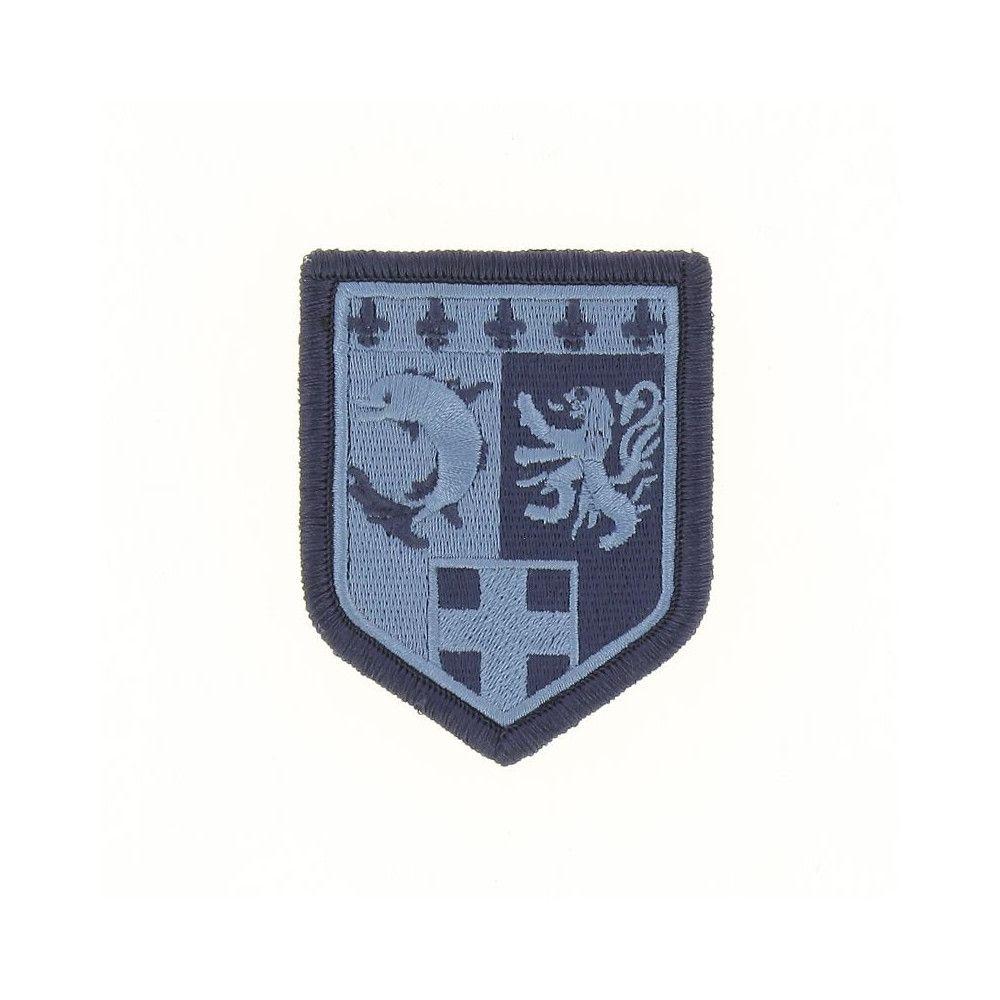 Ecusson de Bras Brode Gendarmerie Departemetale Rhone Alpes Basse Visibilite Bleu