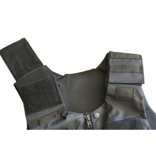 Gilet d'intervention MOLLE porte plaques noir