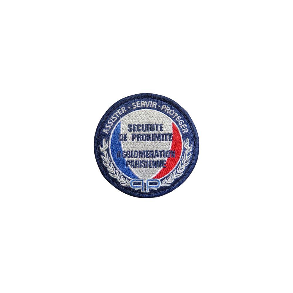 Ecusson de bras brode Securite de Proximite Agglomeration Parisienne