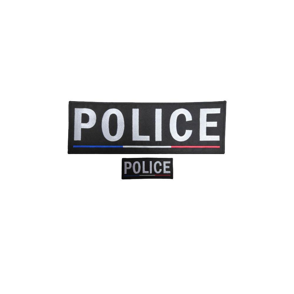 Jeu de bande Police brodé France