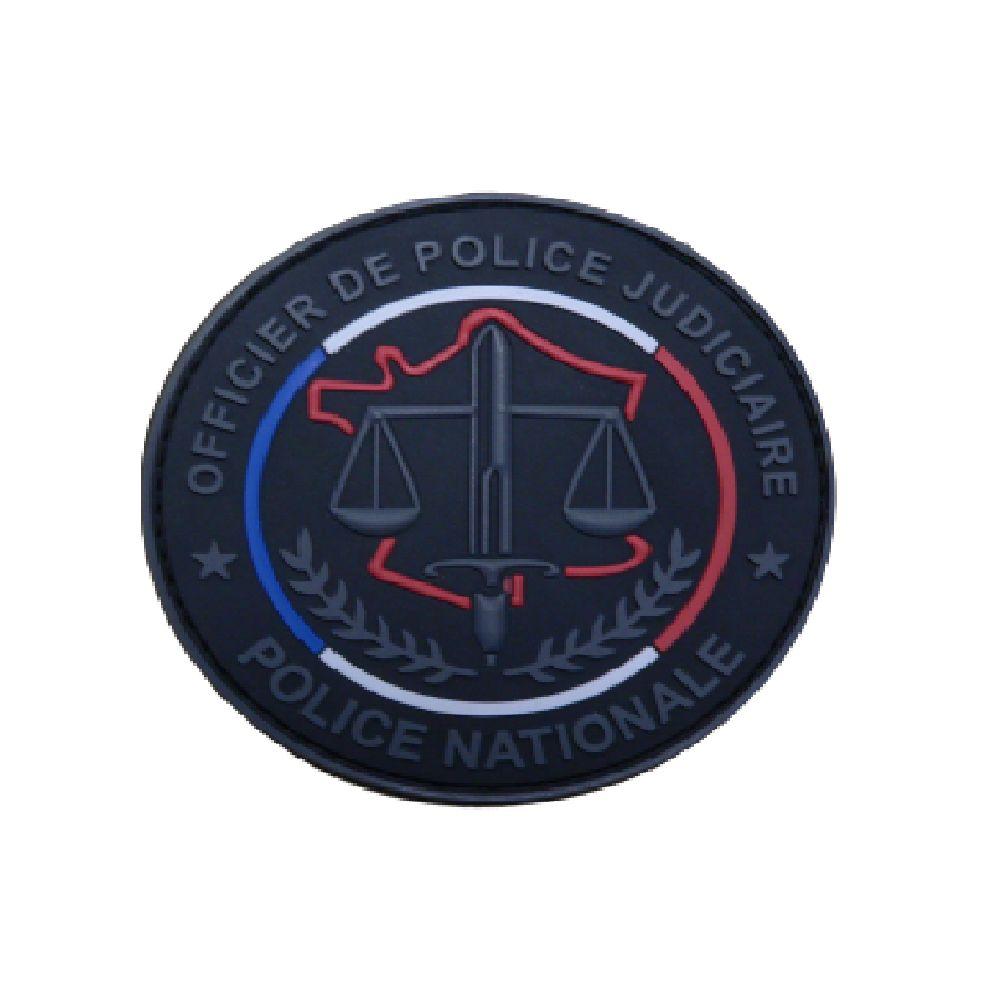 Ecusson de bras PVC OPJ Police Nationale - Fond noir