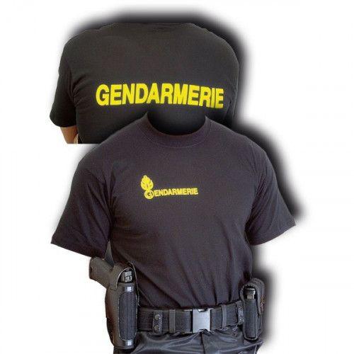 Tee-shirt coton noir Gendarmerie