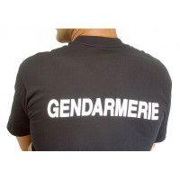 Tee-shirt 100 % coton noir Gendarmerie